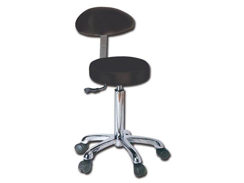 Sgabello con schienale nero gima ram apparecchi medicali