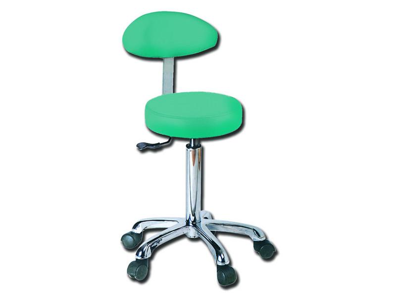 Sgabello con schienale verde gima ram apparecchi medicali