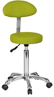 Sgabelli Verde Acido.Sgabello Rotondo Con Schienale Ovale Verde Acido Weelko Ram Apparecchi Medicali